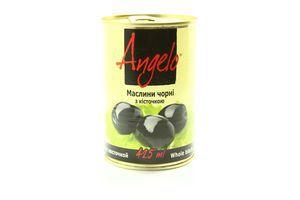 Маслины с косточкой Angelo ж/б 390г