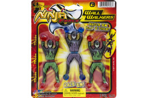 Ja-Ru Secret Ninja Force Wall Walkers- 3 CT