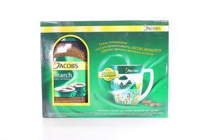 Кава Jacobs Monarch 190г + колекційна чашка