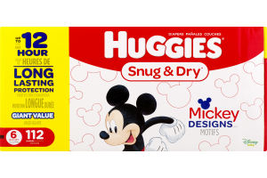 Huggies Snug & Dry Diapers 6/Over 35 lbs. - 112 CT