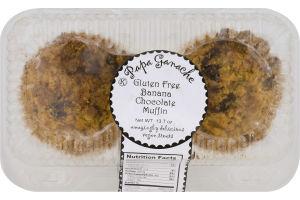 Papa Ganache Gluten Free Muffin Banana Chocolate Jumbo - 2 CT