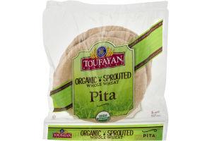Toufayan Bakeries Pita Organic Sprouted Whole Wheat - 5 CT