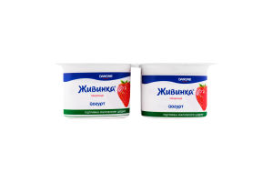 Йогурт 1.2% Клубника Живинка ст 4х115г