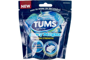 Tums Antacid Chewy Delights Ultra Strength Smooth Peppermint - 32 CT