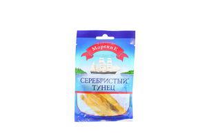 Тунец серебристый соленый сушеный филе-соломка Морские м/у 20г