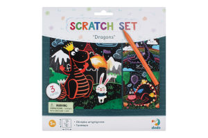 Набір гравюр для дітей від 3років №300215 Дракони Dodo 1шт