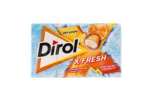 Резинка жевательная без сахара Мандариновая свежесть X-Fresh Dirol к/у 18г