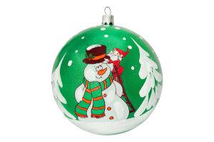 Украшение елочное шар 100мм №2234 Новогодний персонаж Оском Плюс 1шт