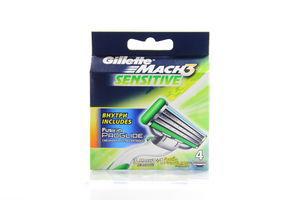 Картридж Gillette Mach-3 Sensitive 4шт