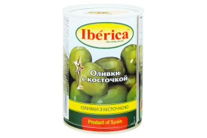 Оливки с косточкой Iberica ж/б 420г
