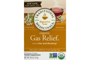 Traditional Medicinals Digestive Teas Organic Gas Relief Tea Bags - 16 CT