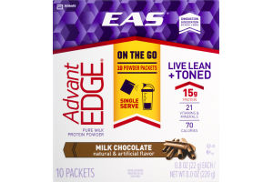 EAS Advant Edge Pure Milk Protein Powder Milk Chocolate - 10 CT