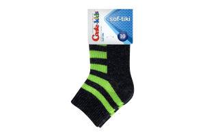 CONTE-KIDS SOF-TIKI Шкарпетки дитячі р.10 210 темно-сірий-салатовий