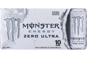 Monster Energy Zero Ultra Energy Drink - 10 PK