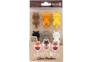 True Zoo Paws Off Glass Markers - 6 CT
