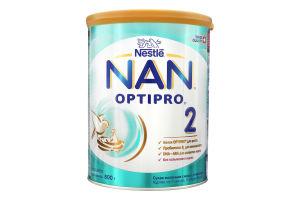 Суміш молочна суха для дітей з 6міс з пребіотиками 2 Optiрro NAN з/б 800г