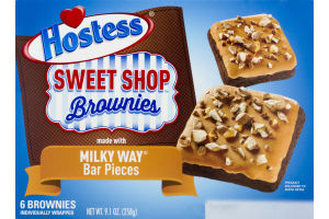 Hostess Sweet Shop Brownies With Milky Way Bar Pieces - 6 CT
