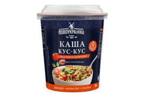 Каша быстрого приготовления с томатами и базиликом Кус-кус Новоукраїнка ст 55г