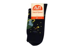 Шкарпетки чоловічі Лівий&Правий Космос 27 темно-синій