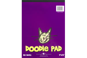 """Roaring Spring Doodle Pad 9""""x12"""" - 80 Sheets"""