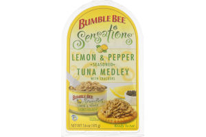 Bumble Bee Sensations Lemon & Pepper Tuna Medley with Crackers