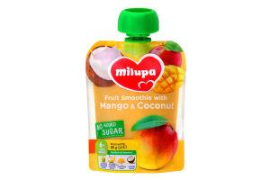 Пюре фруктовое для детей от 6мес Яблоко, банан, манго, кокос Milupa 80г