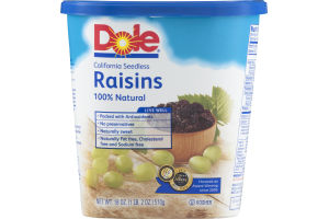 Dole 100% Natural Raisins California Seedless