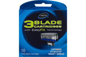 CareOne 3 Blade Cartridges With EasyFit Technology - 10 CT