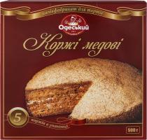 Коржи медовые Одеський хлібозавод №4 к/у 500г