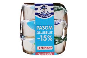 Сир кисломолочний 5% Простоквашино 3х305г