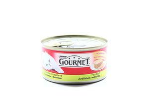 Корм д/кот Gourmet кролик-печень ж/б 195г
