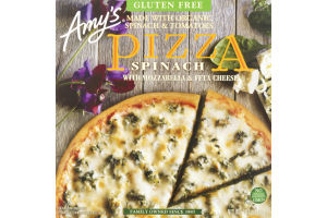 Amy's Pizza Spinach With Mozzarella & Feta Cheese