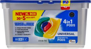 Засіб для прання у вигляді капсул Universal Wash&Free 35шт