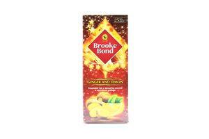 Чай черный с кусочками имбиря Ginger and lemon Brooke Bond к/у 25х1.5г