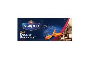 Чай Askold English Breakfast Black 25пак*2г 50г х12