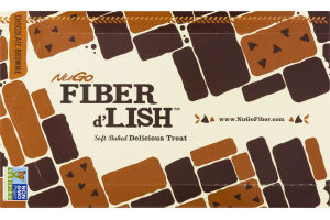 NuGo Fiber d'Lish Soft Baked Delicious Treat Chocolate Brownie Bars - 16 CT