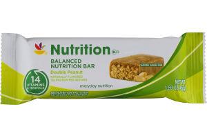 Ahold Balanced Nutrition Bar Double Peanut