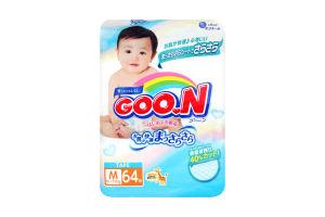 Підгузники Goo.N для дітей 6-11 кг розмір M на липучках унісекс 753708