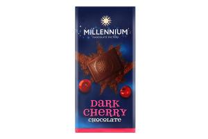 Шоколад чорний з вишнею Millennium м/у 100г