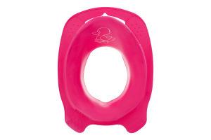 Накладка на унитаз для детей от 24мес розовая Комфорт Утенок Keeeper 1шт