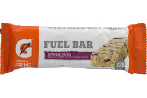 Gatorade Prime Fuel Bar Oatmeal Raisin Energy Bar