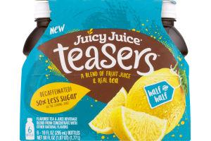 Juicy Juice Teasers Flavored Tea & Juice Half And Half - 6 CT