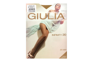 Колготки жіночі Giulia Classic collection Infinity 20den 5-XL daino