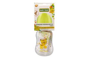 Пляшечка для годування для дітей від народження з латексною соскою 125мл №1300 Baby Team 1шт