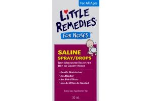 (CN) Little Remedies For Noses Saline Spray/Drops, Les Petits Remedes Pour Les Nez Vaporisateur/Gouttes De Soloution Saline