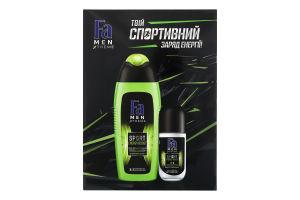 Набор гель для душа 3в1 400мл+антиперспирант роликовый 50мл Sport Energy Boost Men Xtreme Fa 1шт