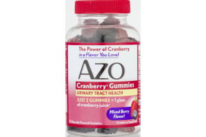 AZO Urinary Tract Health Cranberry Gummies Mixed Berry Flavor - 72 CT