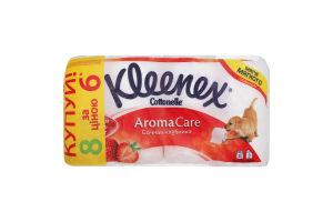 Папір туалетний Kleenex Aroma Care соковита полуниця 6+2//