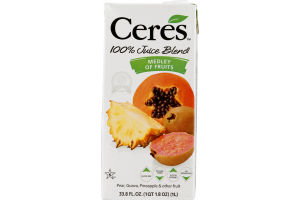 Ceres 100% Juice Medley Of Fruits