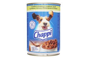 Корм для взрослых собак с говядиной и птицей Chappi ж/б 400г